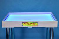 Светодиодный стол для песочной анимации и терапии: Ольха 700×500