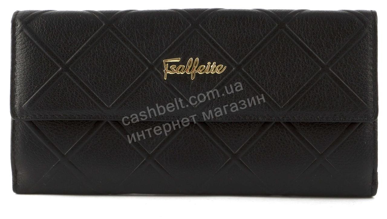 Стильный шикарный женский кошелек высокого качества SALFEITE art. 2618-YR1 черный