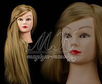 Учебная голова манекен для плетения 30% натуральных волос, длина 65-70 см