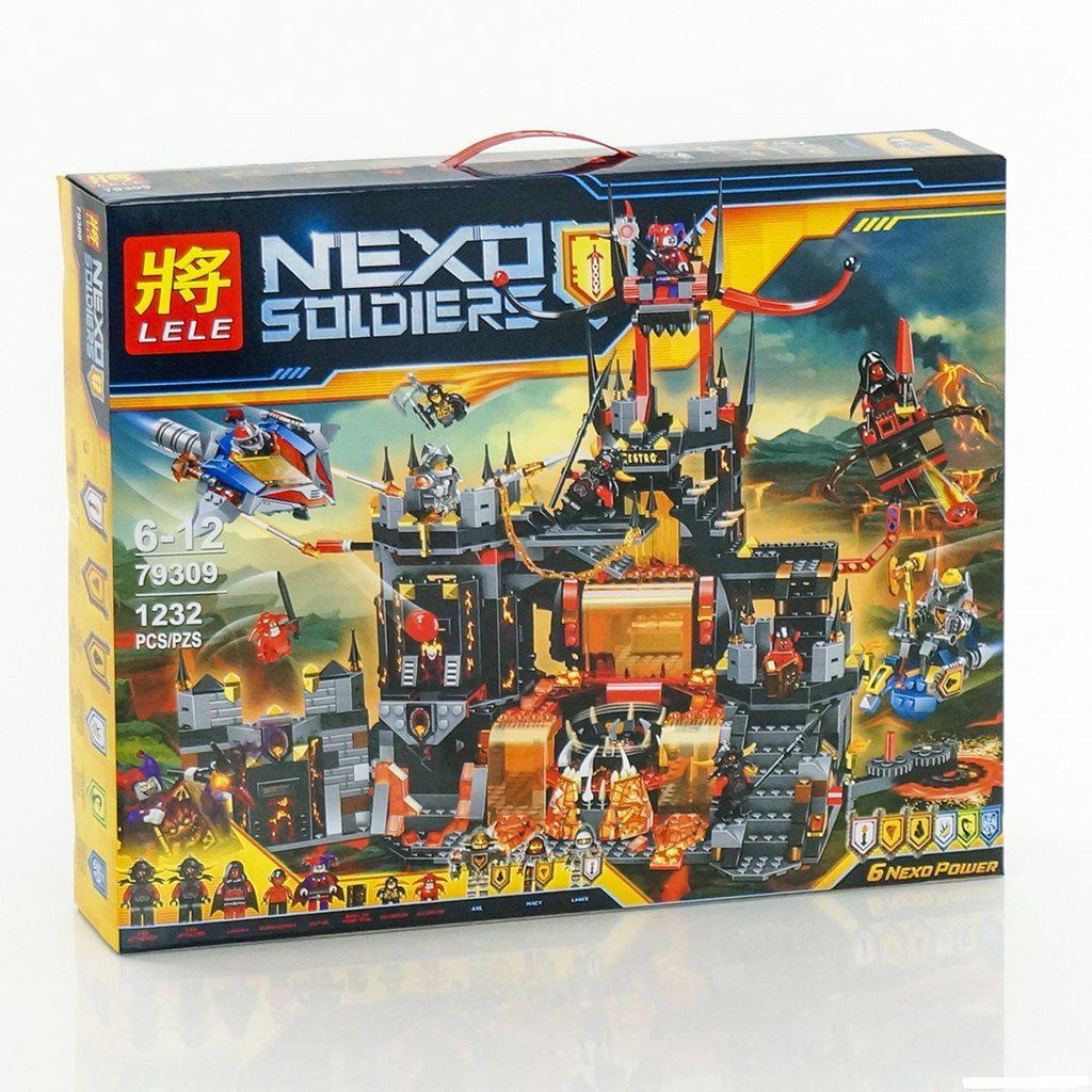 """Конструктор Lele 79309 Nexo Knights (реплика Лего 70323) """"Вулканическое логово Джестро"""", 1232 дет"""