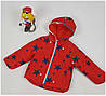 Куртка для девочки 010 весна-осень, размеры от 98 до 116, возраст от 3 до 5 лет, красный