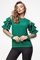 Красивая женская блуза с воланами на рукавах, фото 1
