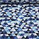 Хлопковая ткань польская треугольники мелкие серые, голубые, темно-синие №90, фото 2