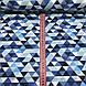 Хлопковая ткань польская треугольники мелкие серые, голубые, темно-синие №90, фото 3