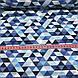 Хлопковая ткань польская треугольники мелкие серые, голубые, темно-синие №90, фото 4