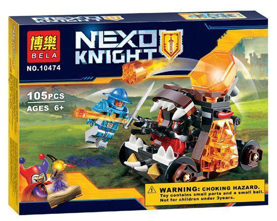 """Конструктор Bela 10474 Nexo Knights (реплика Лего 70311) """"Безумная катапульта"""", 105 дет"""