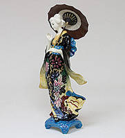 Фарфоровая cтатуэтка Девушка Гейша с зонтом  (Pavone) JP-24/ 6