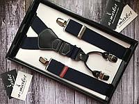 Подтяжки мужские классические с кожаными вставками