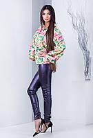 Женская блуза Карин Жёлтый/принт, 42-44