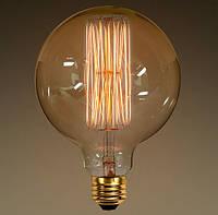Лампа Эдисона E27 G125 40W 2700K Amber