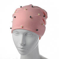 Трикотажная шапка-чулок с жемчугом, фото 1