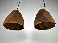 Бетонный светильник БРИОЛЕТ (ржавый металл)
