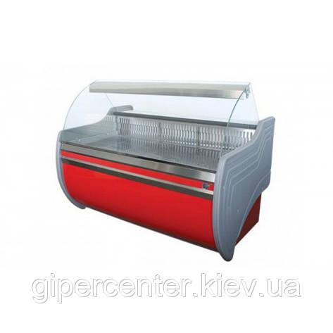 Холодильная витрина Айстермо ВХСКУ ОРБИТА 1.5 (-4...+5°С, 1500х1000х1200 мм, гнутое стекло), фото 2