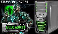Отличный Игровой ПК ZEVS PC7570M i5 3570 + GTX650TI 1GB