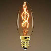 Лампа Эдисона E14 C35 40W 2700K Amber