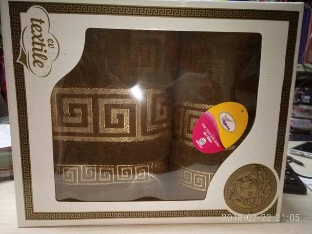 Набор махровых полотенец 2 шт Versace-5