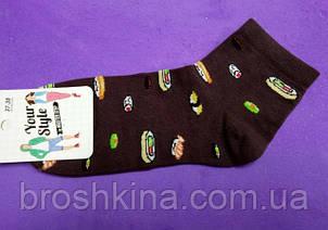 Носки молодежные Суши коричневые Украина р.37-39