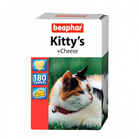 Beaphar Kittys + Cheese витаминизированные лакомства с сыром для кошек 180табл (12594)