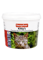 Beaphar Kittys Mix 750 таблеток-витамины для кошек  в виде сердечек, мышек, рыбок (12595), фото 2