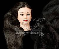 Учебная голова манекен для плетения 30% натуральных волос, длина 65 см