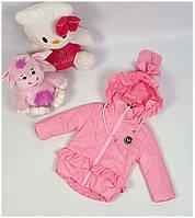 Куртка для девочки  589 весна-осень, размеры на рост от 86 до 104 возраст от 1 до 4 лет, фото 1