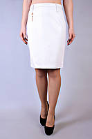 Юбка кожаная большого размера Кожа белая, юбка кожзам, белая юбка, шкiряна спiдниця