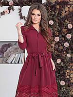 Нарядное Платье Джулия в цвете марсала, фото 1