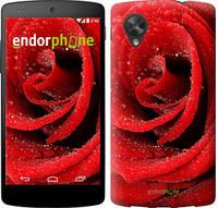 "Чехол на LG Nexus 5 Красная роза ""529c-57-10512"""