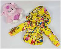 Куртка для девочки WM-13 весна-осень, размеры от 86 до 104, возраст от 1 до 4 лет, желтый, фото 1