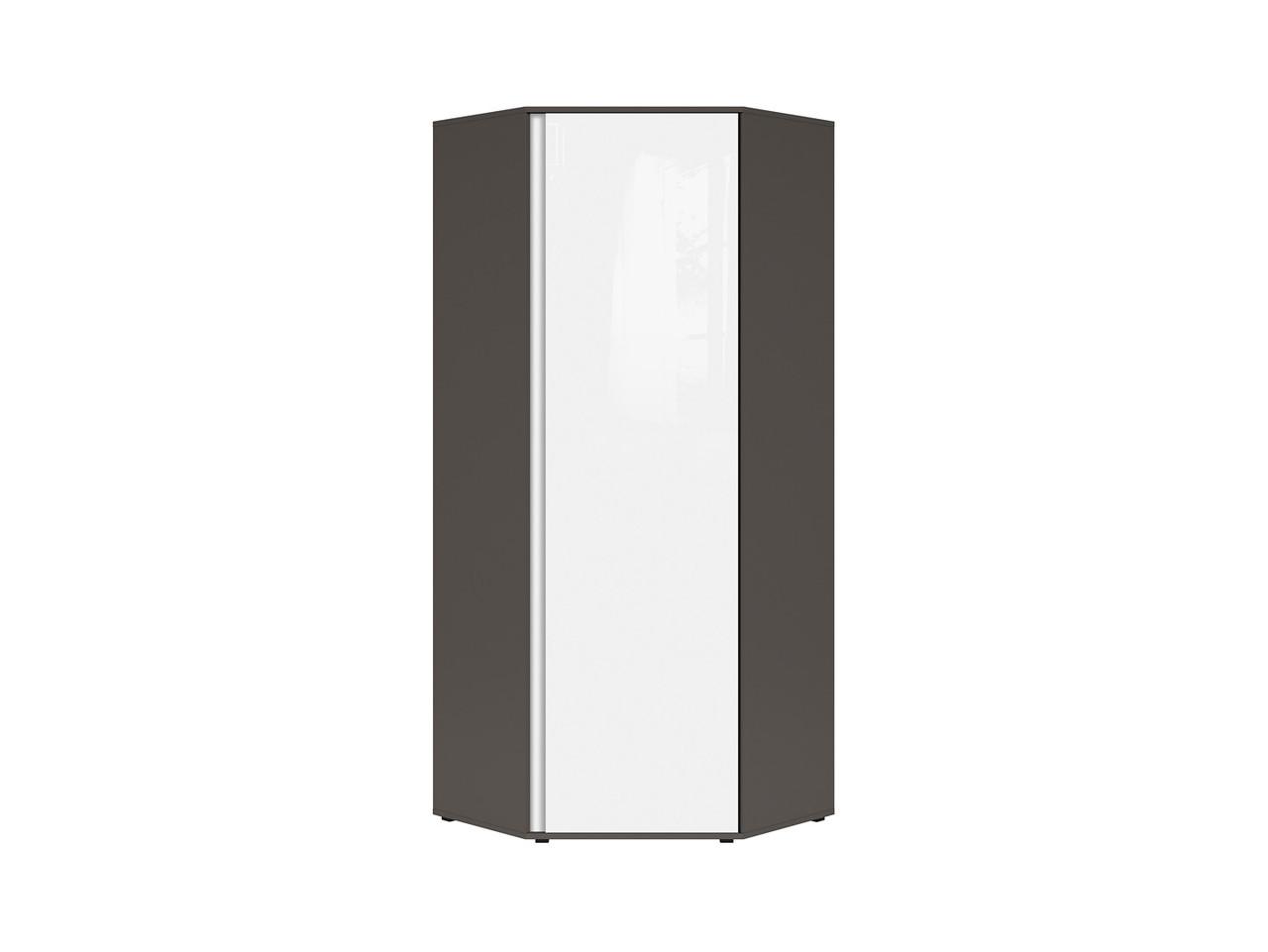 Шкаф угловой SZFN1D Graphic BRW серый вольфрам/белый глянец