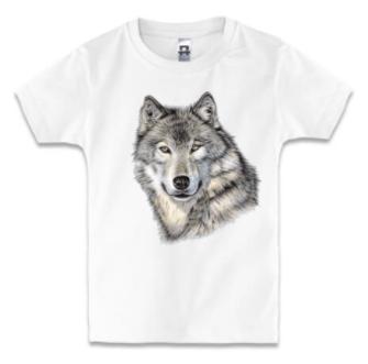 Детская футболка С ВОЛКОМ