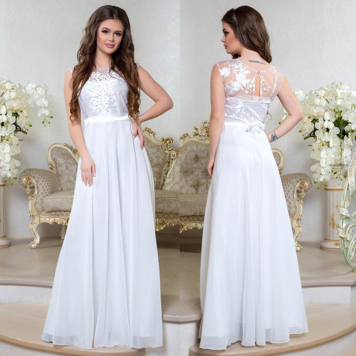 """Платье белое свадебное, вечернее длинное, платье на роспись """"Феодосия"""""""