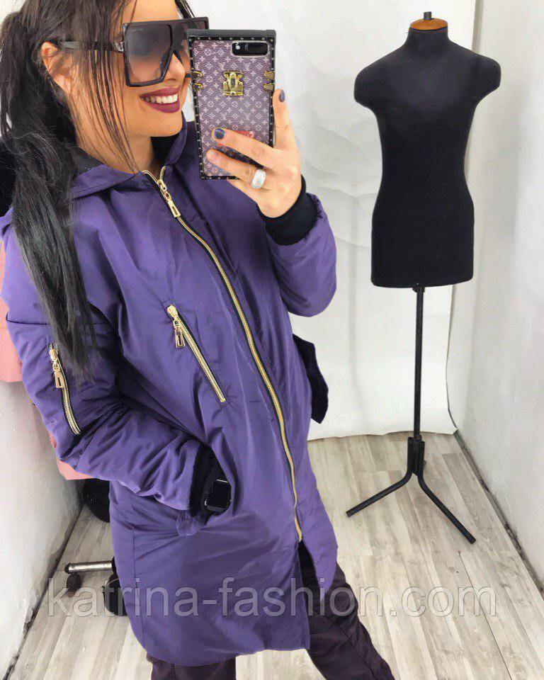 Женская утепленная демисезонная куртка (расцветки)