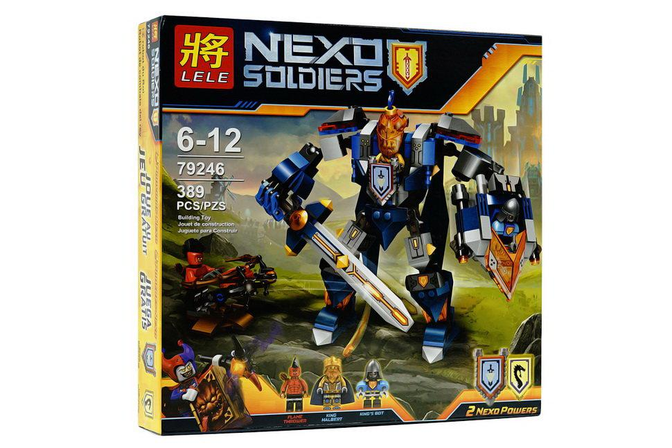 """Конструктор 79246 LELE Nexo Knights (аналог Лего 70327) """"Королевский Мех"""", 389 дет"""