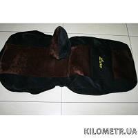 Чехлы коричнево-черный велюр Daewoo Matiz полный комплект