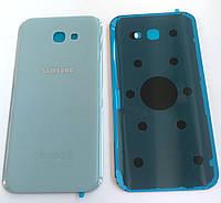 Задняя крышка для Samsung A720F Galaxy A7 (2017), голубая, Blue Mist, оригинал