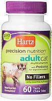 Витамины для кошек Hartz Precision Nutrition Adult Cat Vitamins  60 таблеток (H11460), фото 2