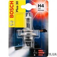 Автолампа H4  12v  60/55w +30% Bosch