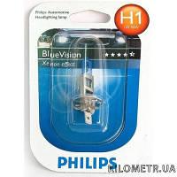 Лампа галогеновая Philips BlueVision H1 12V 55W