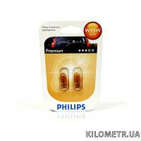 Автолампа WY5W 12V 5W Premium (к-т 2шт) желтые Philips