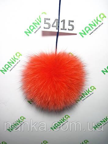 Хутряний помпон Песець, Червоний, 10 см, 5415, фото 2