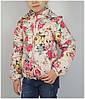 Куртка для девочки 1535 весна-осень, размеры 116 - 134 (5-10 лет), беж