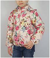 Куртка для девочки 1535 весна-осень, размеры 116 - 134 (5-10 лет), беж, фото 1