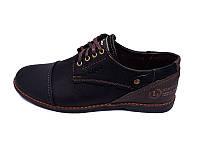 Мужские туфли с нат. кожи Lorandi Mmx 9569 Black Brown р. 40 42 43 44 45, фото 1