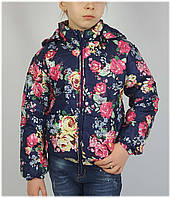 Куртка для девочки 1535 весна-осень, размеры 116 - 134 (5-10 лет), синий, фото 1