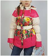 Куртка для девочки  HL 1563 весна-осень, размеры на рост от 116 до 140 возраст от 5 до 10 лет, фото 1