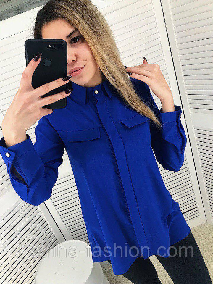 Женская стильная удлиненная блуза (2 цвета)