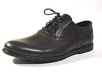 Туфли мужские комфорт кожаные броги на каждый день черные Rosso Avangard Felicete Crock trend, фото 1