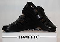 Туфли мужские кожаные 40-45 Traffic черный.