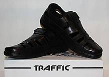 Туфлі чоловічі шкіряні 40-45 Traffic чорний.